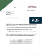 Comunicación de pagos de Odebrecht a la empresa española DCS Management
