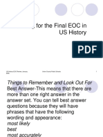 eoc review long - just ok