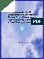 Desarrollo de 30 programas en Microsoft Visual C++ utilizando la.pdf