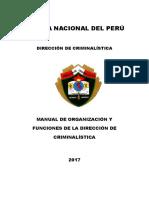 Manual de Organización y Funciones DIRCRI 18SET2017