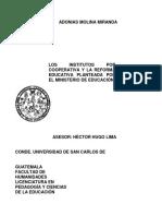 INSTITUTOS POR COOPERATIVA