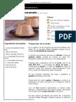 Hoja de Impresión de Pannacotta de Caramelo