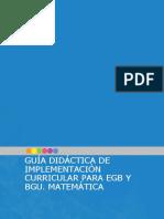 Guia de Implementacion Del Curriculo de Matematica