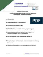 La Hidrofugacion Fakolith Hidrofugantes Micro y Nano