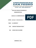 "Documento administrativo "" El Contrato"""