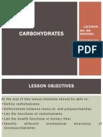 Carbohydrates Mnut 2018