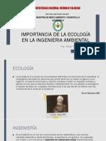 Importancia de La Ecología en La Ingenieria Ambiental