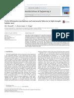 Cyclic deformation mechanisms and microcracks behavior in high-strength bainitic steel