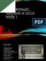 Algorithmic Trading Week 1