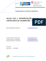 Taller Uso e Interpretacion de Los Certificados de Calibracion