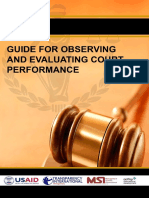 Guide for Observing & Evaluating Court Performance