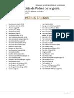 CLASE 1. Anexo Lista de Padres de La Iglesia.