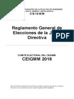 REGLAMENTO DE ELECCIONES CEIGMM 2018
