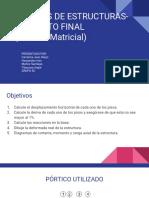 Análisis de Estructuras- Proyecto Final (Método Matricial)