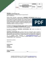 Carta Proteccion de Datos Proveedores