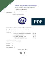 Plan de Capacitación de Computación e Informática