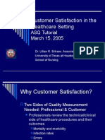 Customer Satisfaction in the Healthcare Setting ASQ Tutorial