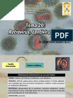 Tema 20 Retrovirus, Lentivirus y VIH