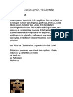 Obras Literarias en La Epoca Precolombina