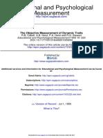 [Cattell R.B. Et Al.] The Objective Measurement of Dynamic Traits