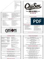 ChiSox Bar & Grill Menu 2018
