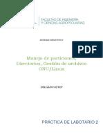 Manejo de particiones, Directorios, Gestión de archivos GNU/Linux