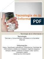 Tecnología de La Información II