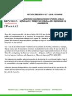 Carretera de integración respetará Áreas Naturales y Reservas Comunales e indígenas en Cajamarca