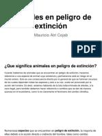 Animales en Peligro de Extincion - Mauricio Atri Cojab