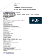 Syllabus Dynamique Des Structures Cu at Beloufa 2014-2015 Master m1 Mm