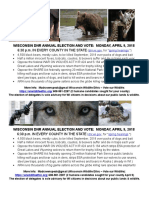 Wisconsin DNR 2018 Election and Vote - Flyer 3 (2 Per Page)