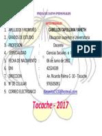 Ficha de Datos Personales Yaneth