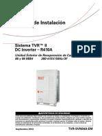 Manual de Instalación de  aire acondicionado TVR II