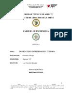 Examen Extremidades y Columna