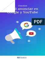 Checklist Com Anunciar en Google y Youtube