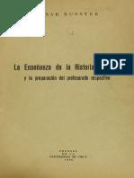 La enseñanza de la historia literaria - Bunster