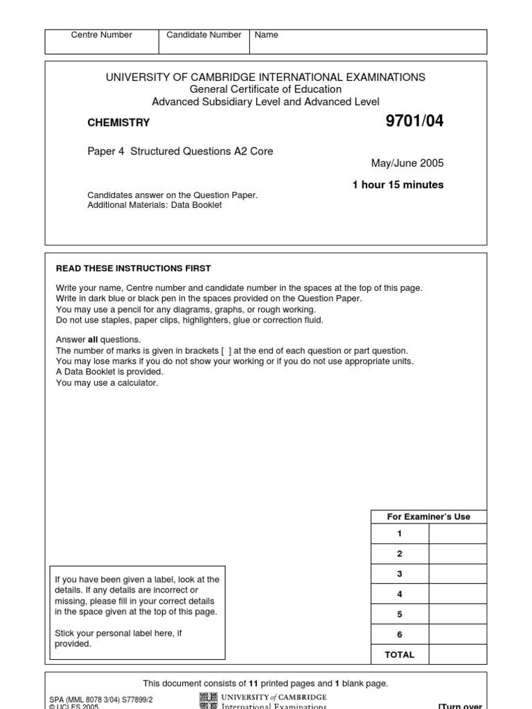 9701 data booklet