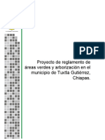 Reglamento de Areas Verdes y Arborizacion Avance Final 5 de Agosto