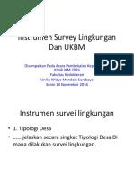 Instrumen Survei Lingkungan Dan UKBM