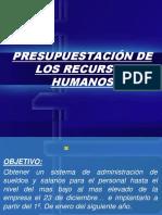 Presupuestacion de Los Recursos Humanos