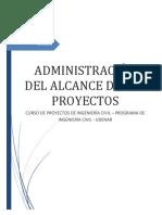 La Administración Del Alcance de Los Proyectos