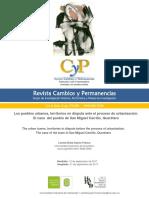 Los Pueblos Urbanos, Territorios en Disputa Ante El Proceso de Urbanización - Lorena Erika Osorio Franco