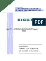 Sistema Electrico El Salvador Siget