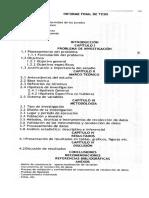 Partes Del Informe de Tesis Upg.