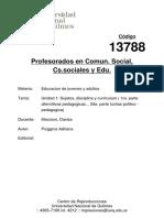 Cod13788 Unidad1 Sujetos,DisciplinaYCurriculum(1ra.parteAlternitivasPedagogicas...2da.parteLuchasPolitico-Pedagogica)