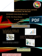 Crecimiento Demografico de Bolivia