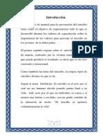 Manual de Prevencion Del Suicidio.