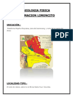 formacion limoncito informe