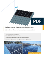 Railless Metal Sheet Mouning System