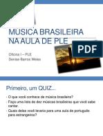 Musica Brasileira Na Aula de Ple